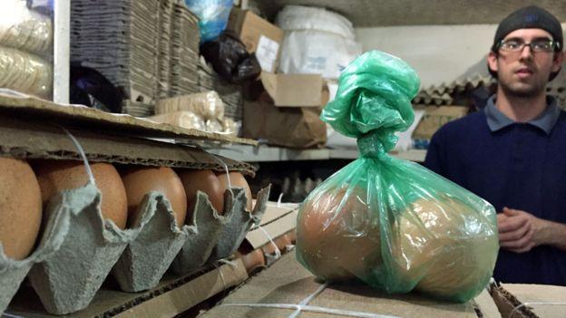 Venta de huevos en Caracas