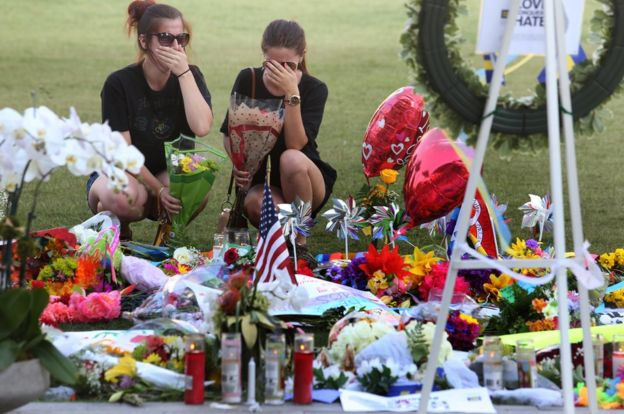 Mourners in Orlando