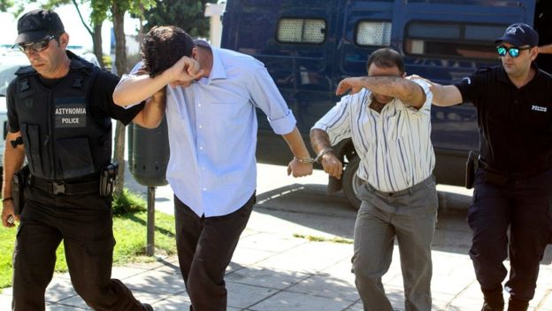 Turkish military personnel appear in Greek court on 17 July 2016