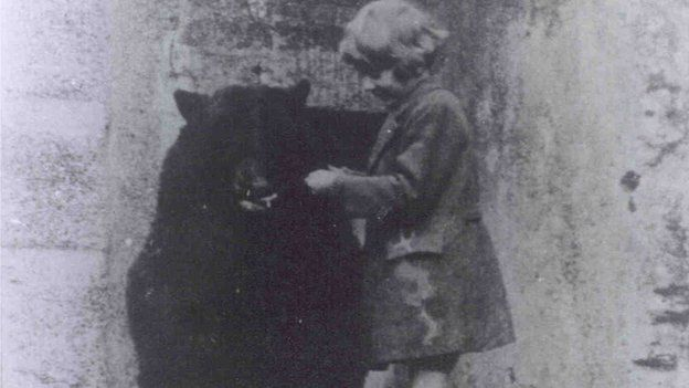 Winnie the bear with AA Milne's son Christopher Robin