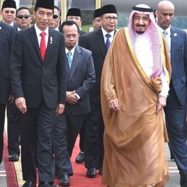 Raja Salman dan Jokowi