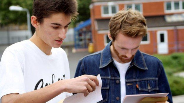 Boys open GCSE results, Bristol