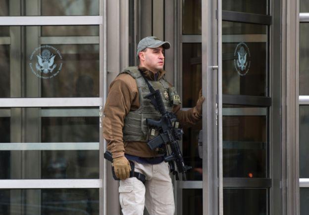 El Chapo está siendo enjuiciado en Estados Unidos entre fuertes medidas de seguridad.
