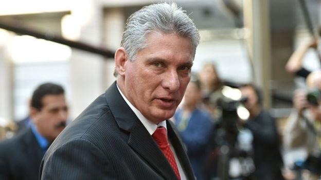 O vice-presidente cubando, Miguel Diaz-Canel