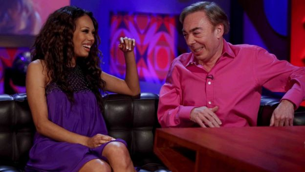 Jade Ewen and Lord Lloyd Webber