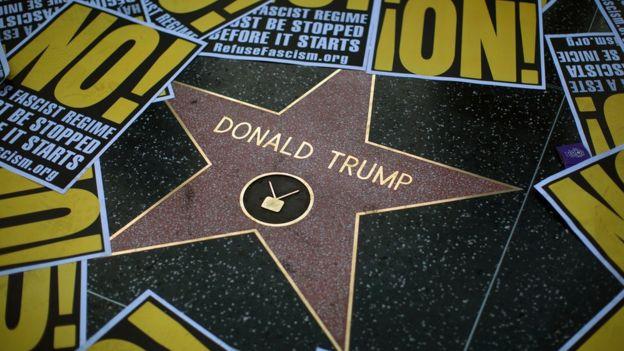 Estrella de Donald Trump en el PAseo de la Fama de Hollywood, Los Ángeles