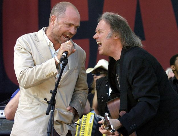 Downie performed with Neil Young in 2005