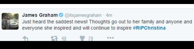 James Graham's tweet