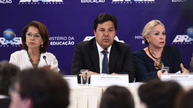 Mendonça Filho, ministro da Educação, na divulgação do Ideb, nesta quinta