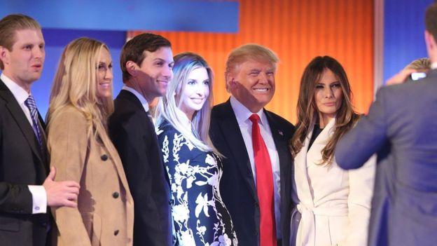 Trump y su familia