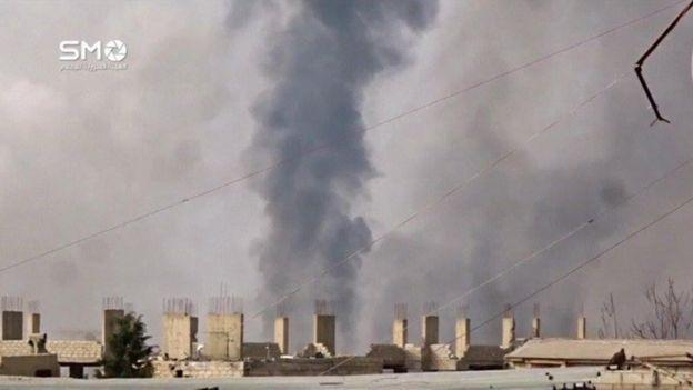 وقعت الاشتباكات في حي جوبر