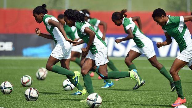 Nigeria's women football players - June 2015