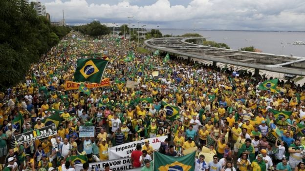 Anti-government protests in Manaus, Brazil, 13 March
