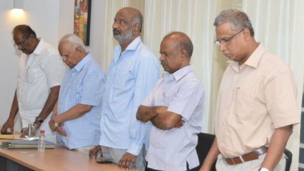 தமிழ்த் தேசிய கூட்டமைப்பின் ஒருங்கிணைப்பு குழு தலைவர்கள்
