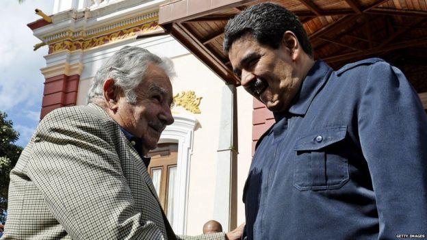 José Mujica y Nicolás Maduro