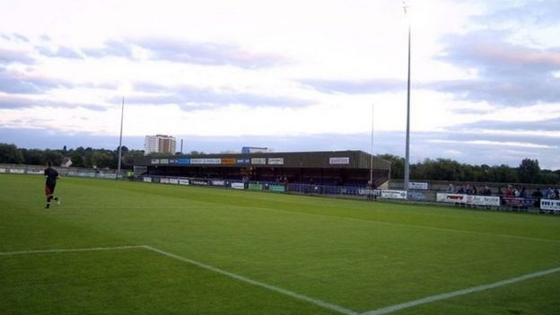 Main stand at Court Place Farm