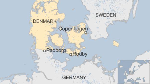 Migrant crisis DenmarkGermany rail links suspended BBC News – Germany Denmark Map