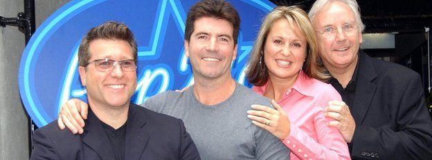 File photo dated 26/09/01 of Pop Idol judges (left to right) Neil Fox, Simon Cowell, Nicki Chapman and Pete Waterman, during a photo call to launch Pop Idol.