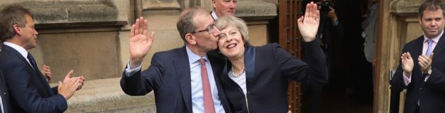 Theresa May y su esposo Philip