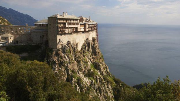 Mosteiro de Simonos Petra, em Monte Athos