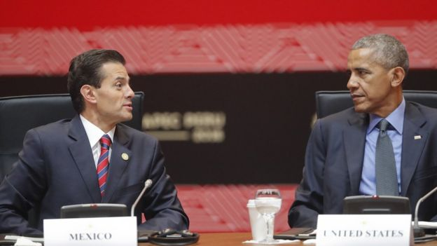 Enrique Peña Nieto y Barack Obama.