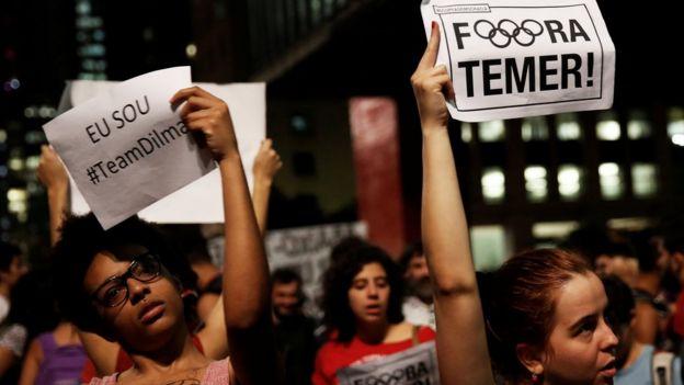 Protesta contra Temer