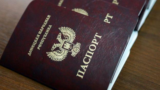 自稱頓內次克人民共和國發行的護照。