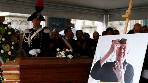 Dario Fo'ya cenaze töreni