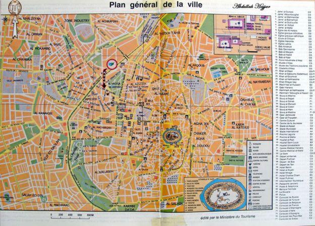 Mapa de Alepo