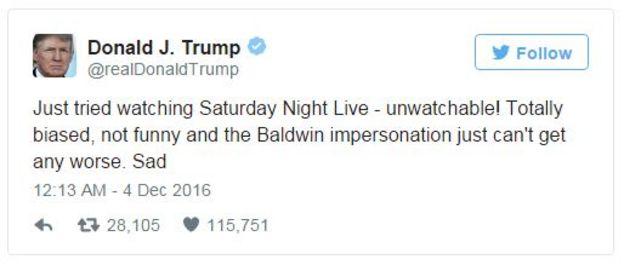 Tuit de Trump que dice: