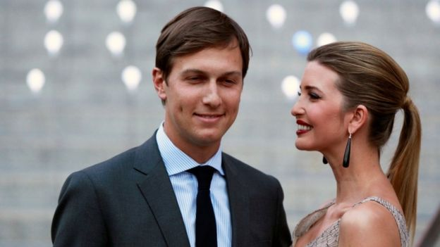 Democrats have called on the Justice Dept & Office of Government Ethics to review Trump's appointment of his son-in-law, Jared Kushner as top adviser.