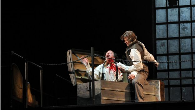 A Sweeney Todd performance at the Chatelet Theatre in Paris
