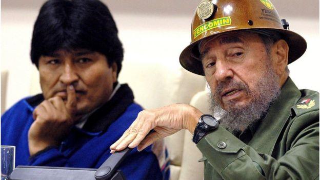 Evo Morales e Fidel Castro
