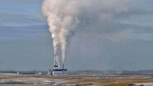 Una central térmica de carbón