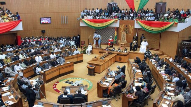 Ghana's parliament during the president's state of the nation speech 25 February 2014
