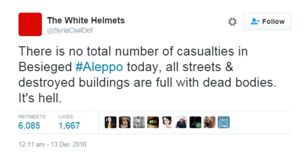 White Helmets tweet