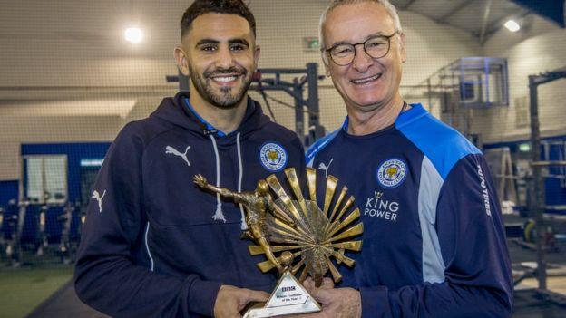 Mahrez na kocha wake Leicester Claudio Ranieri