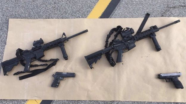 Guns confiscated after the attack
