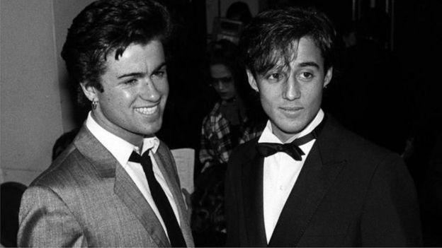 George Michael e Andrew Ridgely na década de 1980