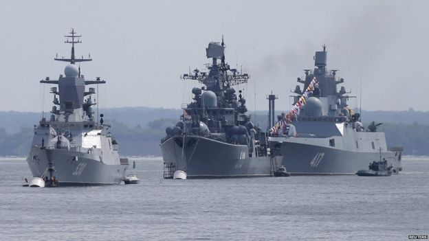 Russian warships at Baltiysk, 26 Jul 15