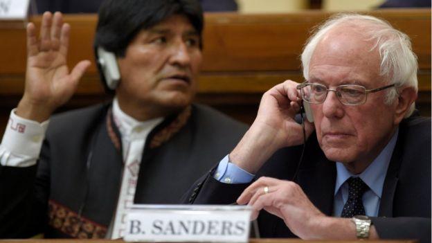 Bernie Sanders and Bolivia President Evo Morales
