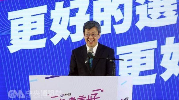 台灣副總統陳建仁,出席機場捷運通車典禮