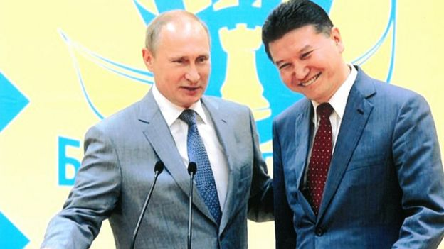 Kirsan Ilyumzhinov con Vladimir Putin