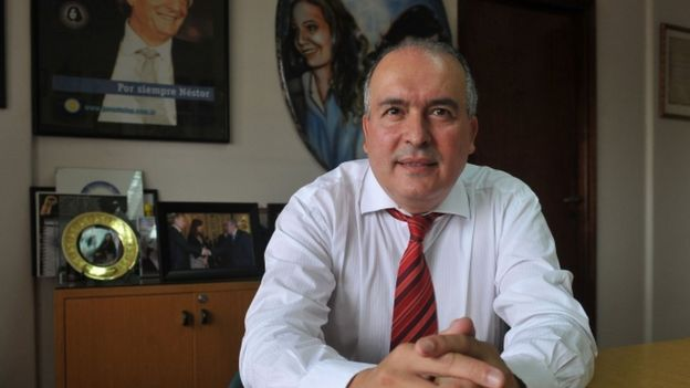 Argentinean former Secretary of Public Works (2003-2015) Jose Lopez in Buenos Aires.