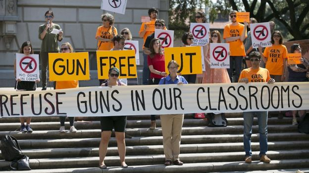 University of Texas anti-gun protest (file photo)