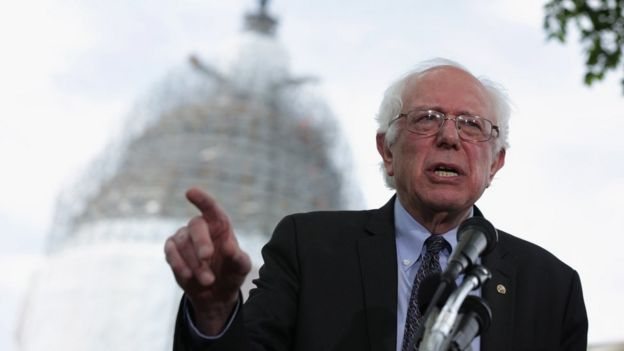 Bernie Sanders speaks at an event on Capitol Hill in Washington, DC.