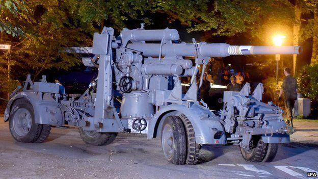 The anti-aircraft gun