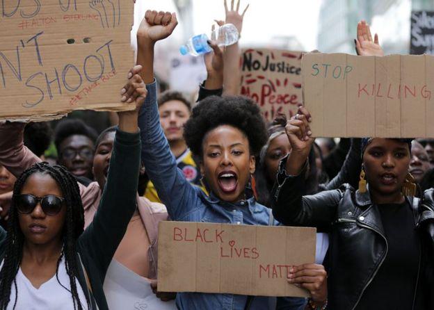 Protesta del movimiento Black Lives Matter