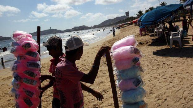 Comerciantes en Acapulco
