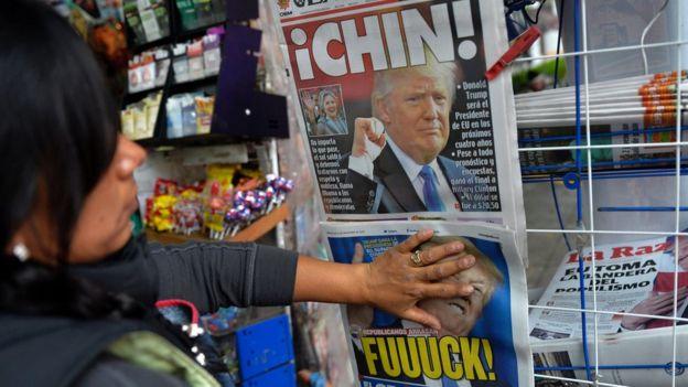 Donald TRump en periódicos.